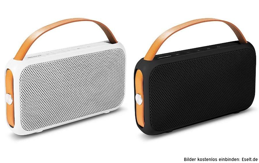 "Medion™ - Bluetooth Lautsprecher ""E65555"" (2x10W,AUX,IPX4,USB,1300mAh) ab €9,45 [@Medion.de]"