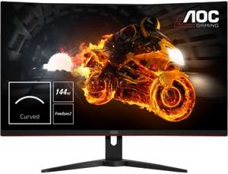 "Monitor-Angebote: z.B. AOC CQ32G1 (31.5"", VA Curved, 2560x1440, 144Hz, FreeSync, 8bit, 99% sRGB, 2x HDMI, DisplayPort, höhenverstellbar)"
