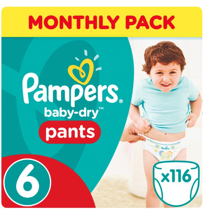 50% Rabatt auf Pampers Baby Dry Pants Boxen Gr. 6 + Baby-Points kombinierbar bei [Babymarkt]