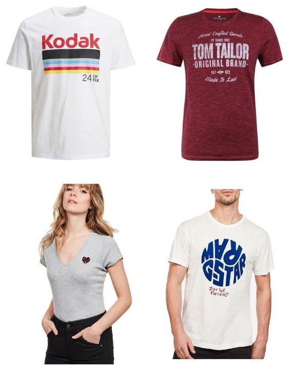 4 T-Shirts aus 152 Designs für Damen und Herren, zB G-Star, Jack & Jones, Lee uvm.