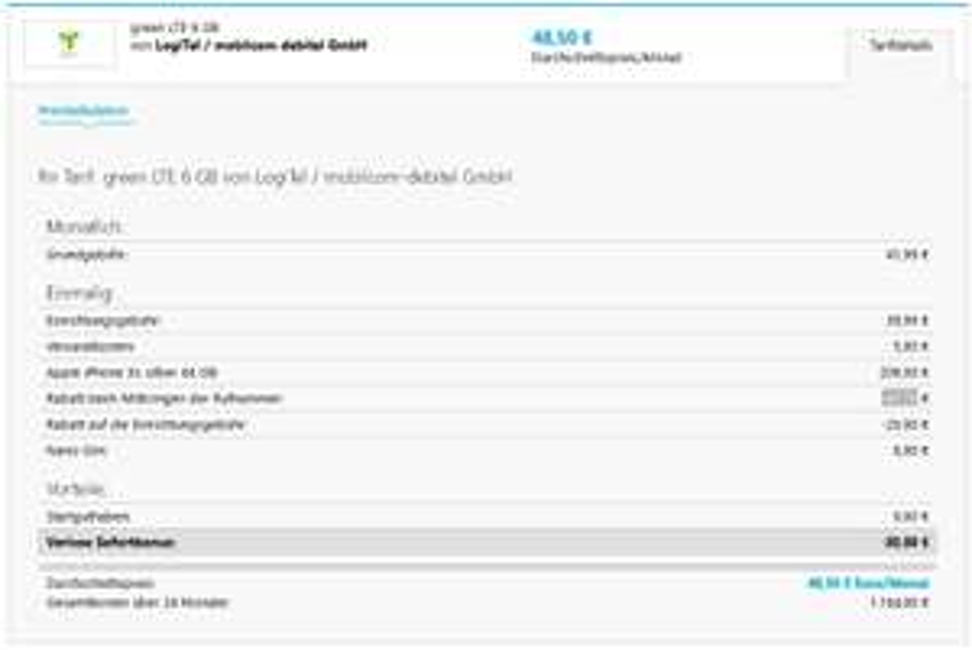 iPhone XS - Green LTE 6GB Vodafone