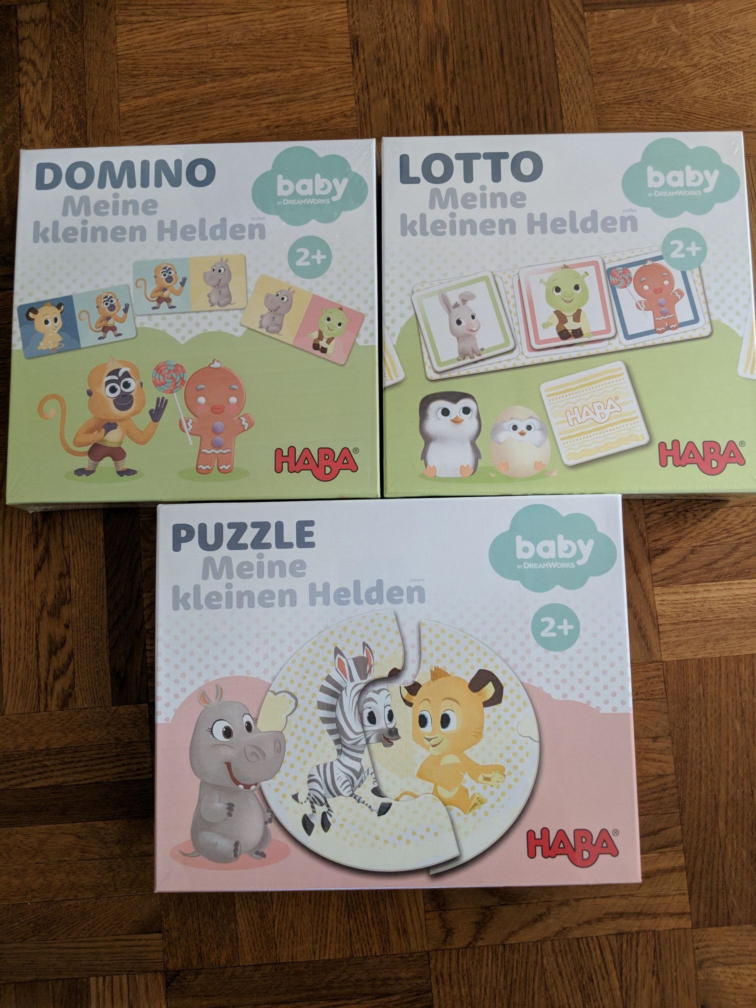 (Segmüller Weiterstadt) Haba Domino, Puzzle und Lotto