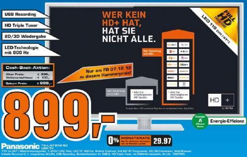 Panasonic TX-L47ETW50 für 899€