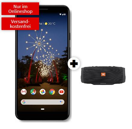 Google Pixel 3a XL +  JBL Charge 3 mit o2 All-In M Tarif - Allnet & SMS Flat + 5 GB LTE