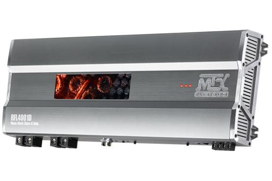 MTX RFL4001D - Subwoofer-Verstärker (4000W/1Ω, 2400W/2Ω, 1500W/4Ω, 10Hz - 150Hz, S/N Ratio > 95dB)