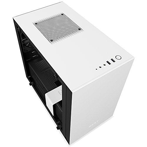 Mini-ITX-Gehäuse für Gaming-PCs NZXT H200 (Glas-Window, Weiß)