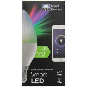[Action Bundesweit offline] LSC Smart Connect GU10 E14 E27 Filament Fenster/Türkontakt Sirene Steckdose Deckenlampe LED-Stripe