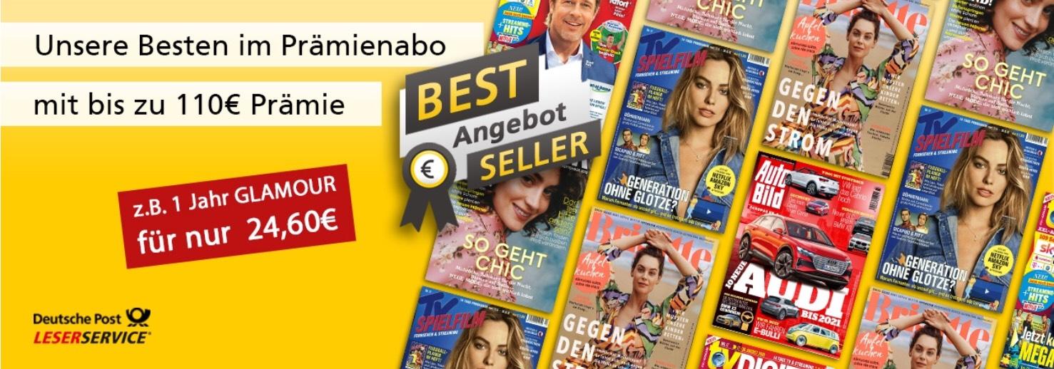 Deutsche Post LESERSERVICE mit sehenswerten Gutscheinen für AutoBild, Brigitte, TV Spielfilm, TV Digital XXL