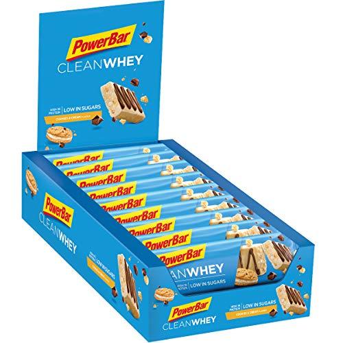(Amazon Prime ) 18 x 45g PowerBar Clean WheyProtein Riegel Low Sugar Eiweiß-Riegel - Cookies und Cream