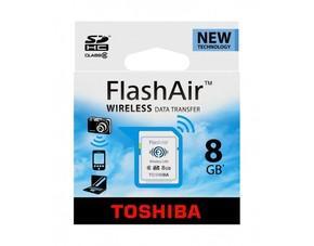 Toshiba FlashAir 8GB Speicherkarte mit integrierter Wireless LAN Funktionalität für  54,99 € @ MP