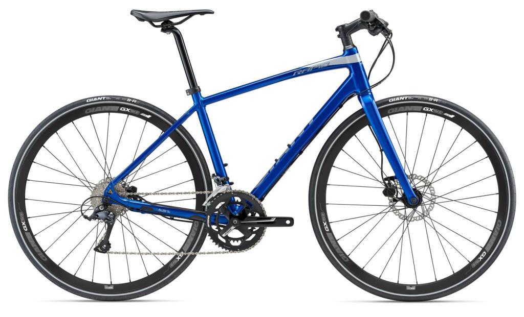 Fahrrad City Bike Giant Rapid 2 + Pumpe - 2018 (Blau - M)