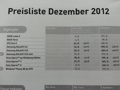 [Bundesweit in allen Base Shops] Sony Xperia U für 149€