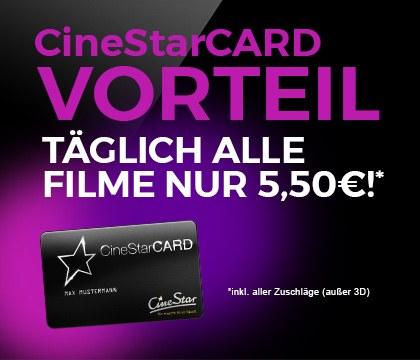 Lokal Bielefeld/Bremen: Alle Filme für 5,50€ bei CineStar Bielefeld/Bremen