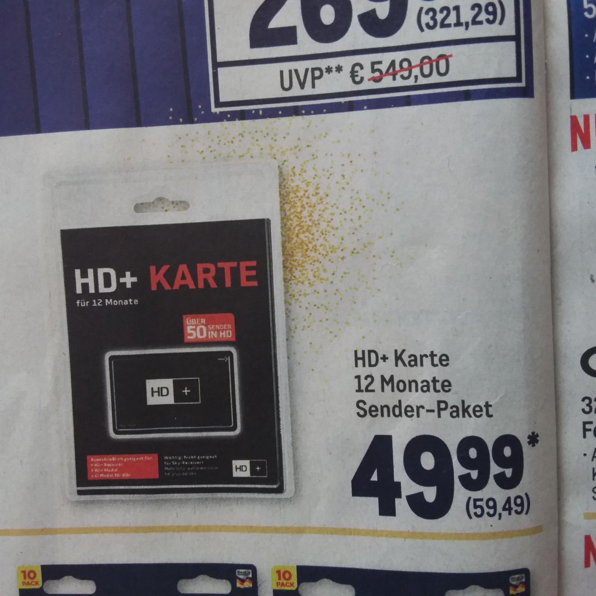 HD + Plus Karte 12 Monate [Metro]