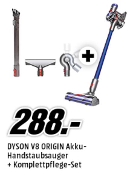 Dyson V8 Origin Akku Handstaubsauger + Gratis Komplett-Pflegeset für 288€ inkl. Versandkosten