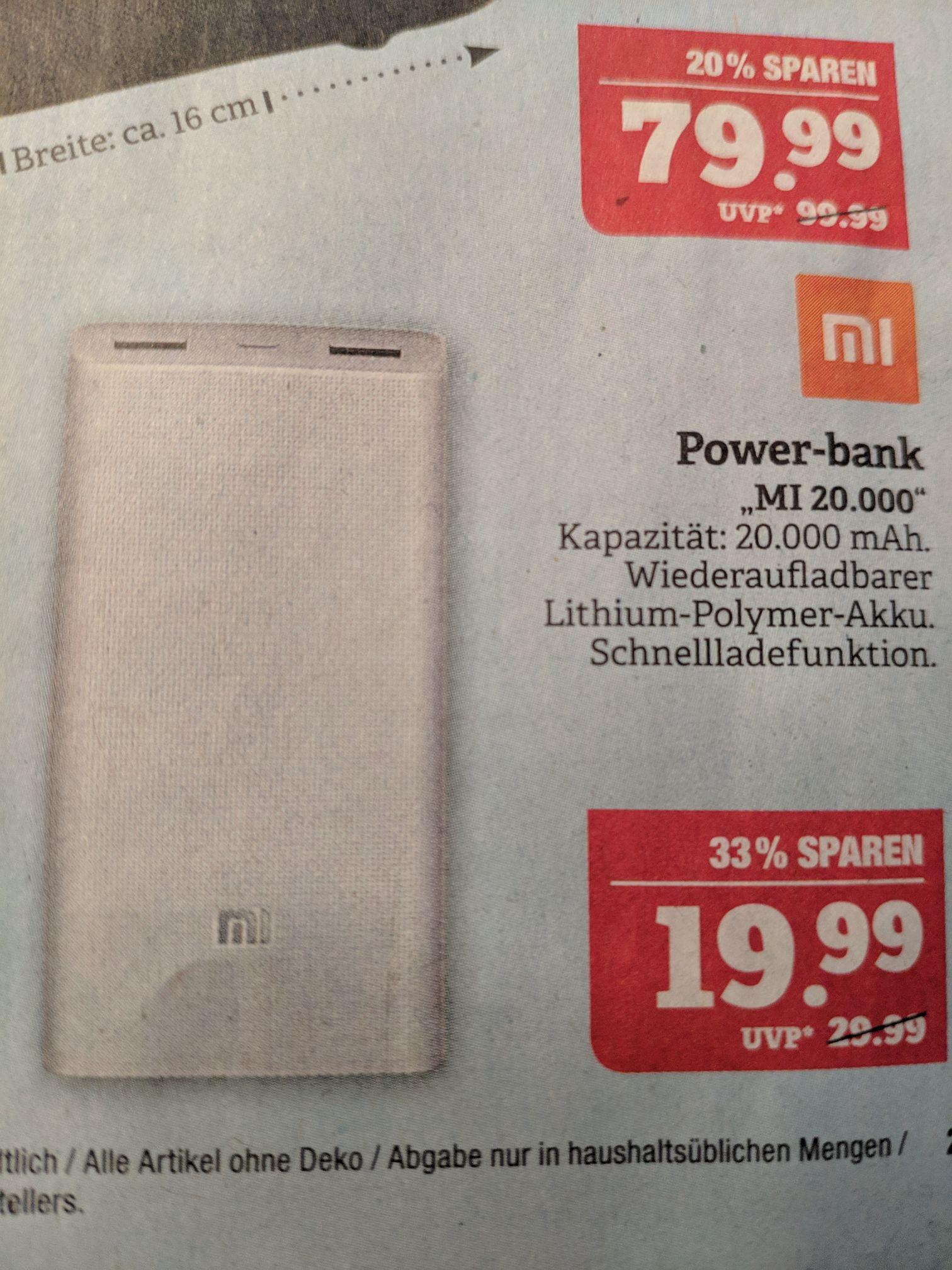 [Lokal Görlitz] Marktkauf Xiaomi Powerbank 20000