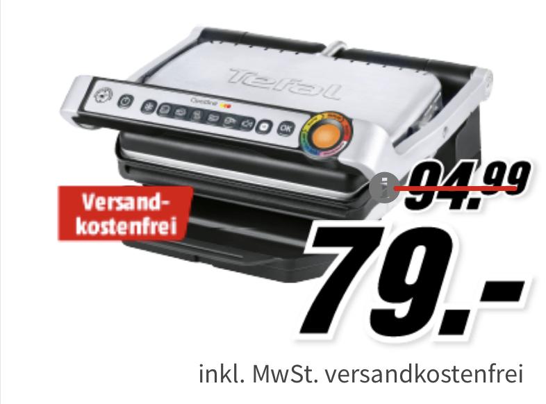 Tefal OptiGrill GC702D für 79€ inkl. Versandkosten [MediaMarkt / Amazon]