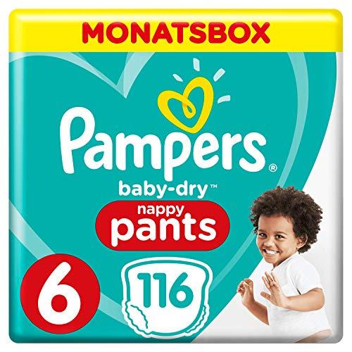 [Amazon] Sparabo + Rabatt -> Pampers Baby-Dry Pants, mit Luftkanälen Monatsbox, Größe 6, 116 Windeln