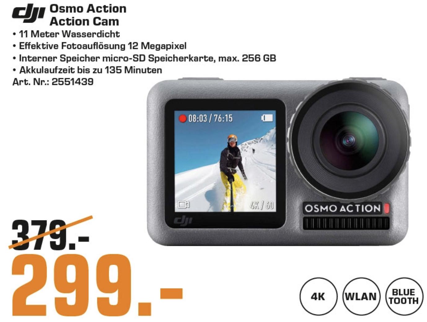 Lokal Saturn Wolfsburg: DJI Osmo 4K Action Cam für 299€ / Huawei Medipad M5 LTE 249€ / Devolo 9716 für 69€ / Samsung Gear S3 Frontier 149€