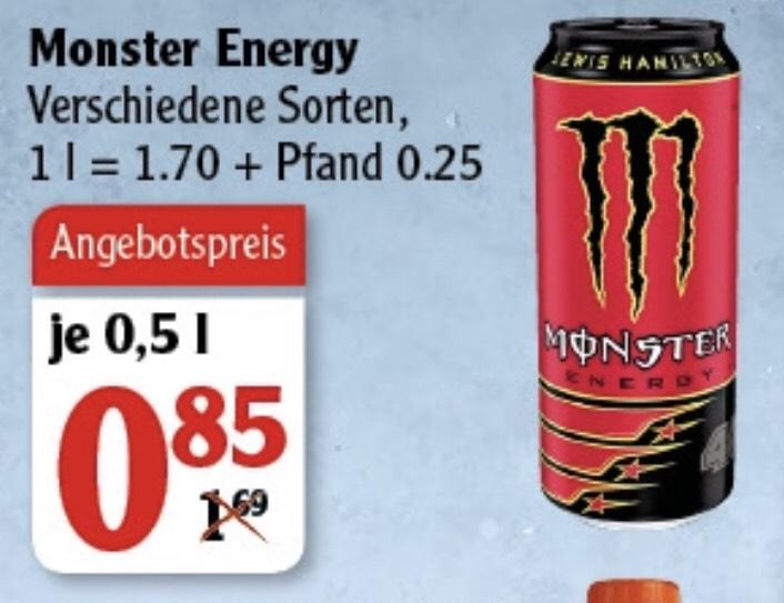 [GLOBUS] Monster Energy vers. Sorten (1 x 0,5l)