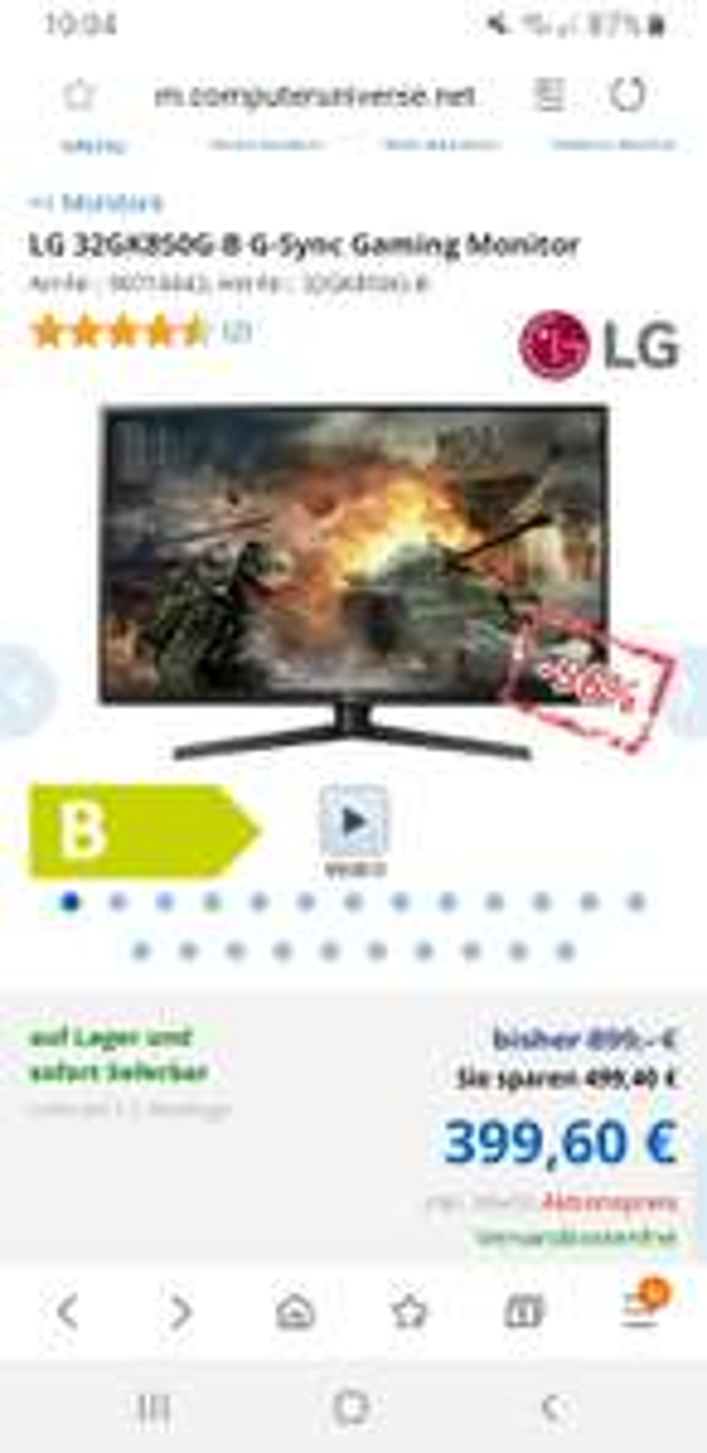 Computeruniverse LG 32GK850G-B G-Sync 144hz Gaming Monitor