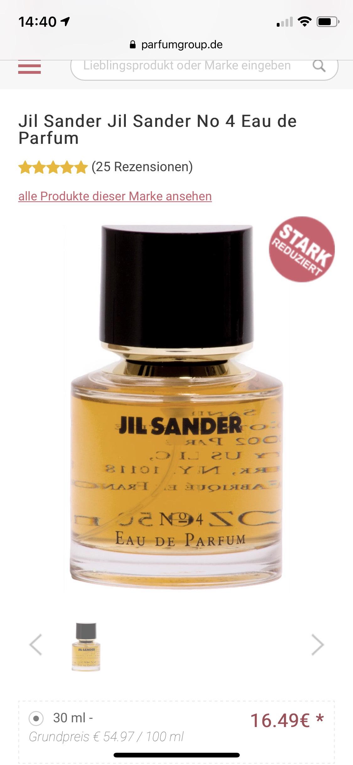 Jil Sander Jil Sander No 4 Eau de Parfum 30ml