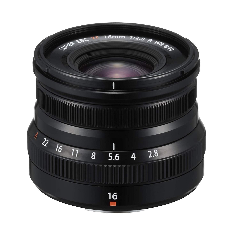 (Amazon) Fujifilm Fujinon Objektiv XF 16mm F2.8 R WR Schwarz