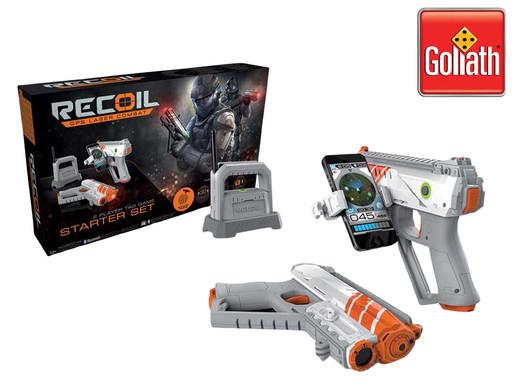 2x Goliath Recoil GPS Laser Combat Starter-Set (2x WLAN-Hub, 4x Spitfire-Waffe, 4x Smartphonehalterung) [iBOOD]