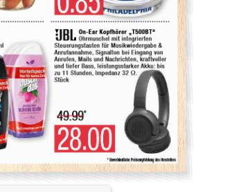 JBL Tune 500BT On-Ear Bluetooth-Kopfhörer/ schw. / Marktkauf Nord