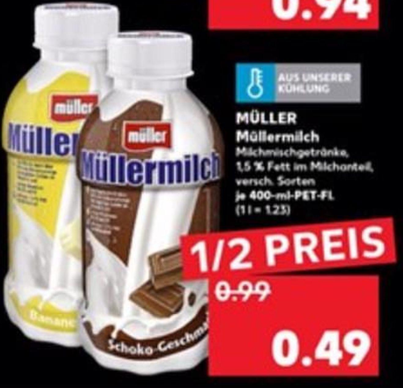 Müllermilch 400ml versch. Sorten für 0,49€ o. Wilkinson Hydro 5 inkl. 2 Klingen für 2,97€ [Kaufland ab 29.08.]