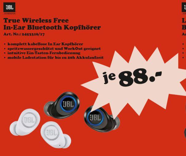 [Regional Mediamarkt Berlin/Brandenburg ab 28.08] JBL Free X komplett kabelloser In-Ear Bluetooth-Kopfhörer (2 Farben) für je 88,-€