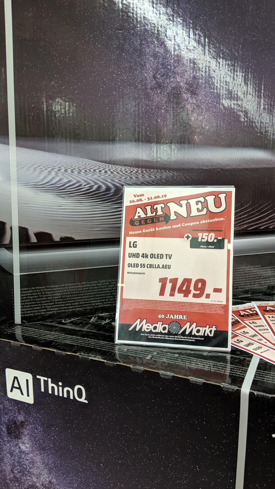 LG Oled 55C8 plus 150€ Gutschein. Media Markt Düsseldorf Bilker Acarden
