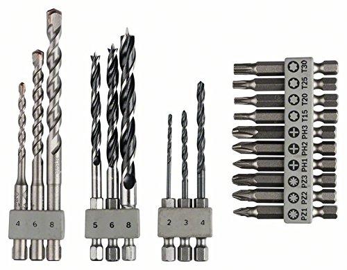 Bosch Uneo Set: Steinbohrer, Holzboher, Metallbohrer, Bits