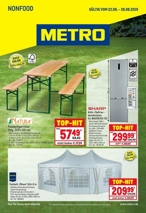Metro: Sharp Kühl-/Gefrier-Kombination SJ-BA20IEXI2-EU