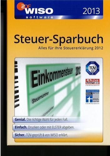 WISO Steuer-Sparbuch 2013 auf DVD für nur 24,95 EUR inkl. Versand! Keine DL-Version!