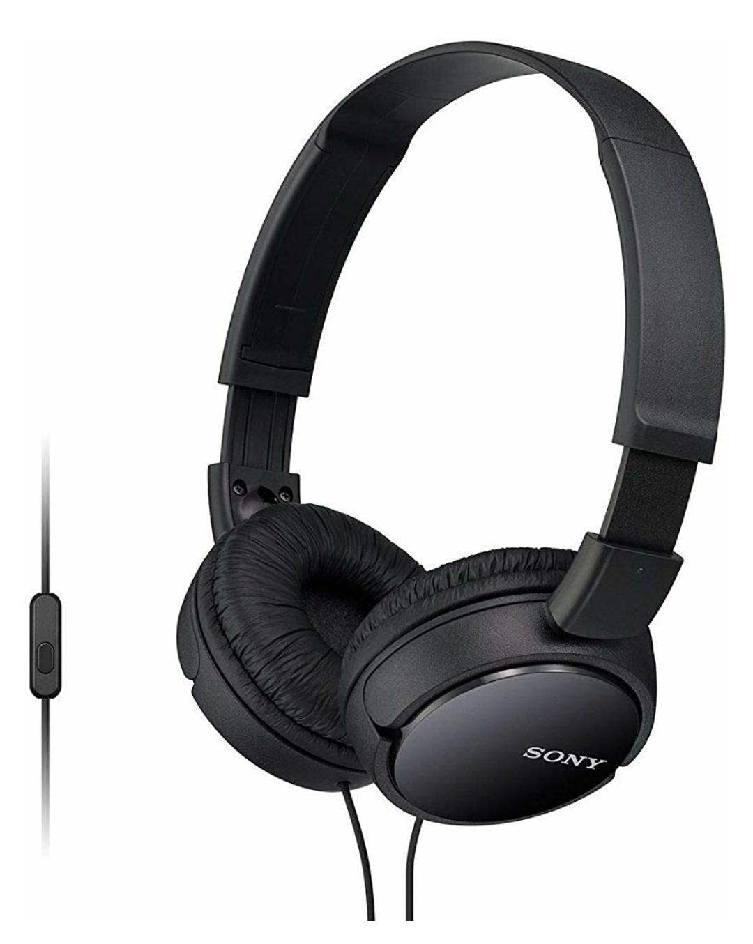 Sony MDR-ZX110AP faltbare OnEar-Kopfhörer mit Headset-Funktion, schwarz [Saturn + Amazon Prime]