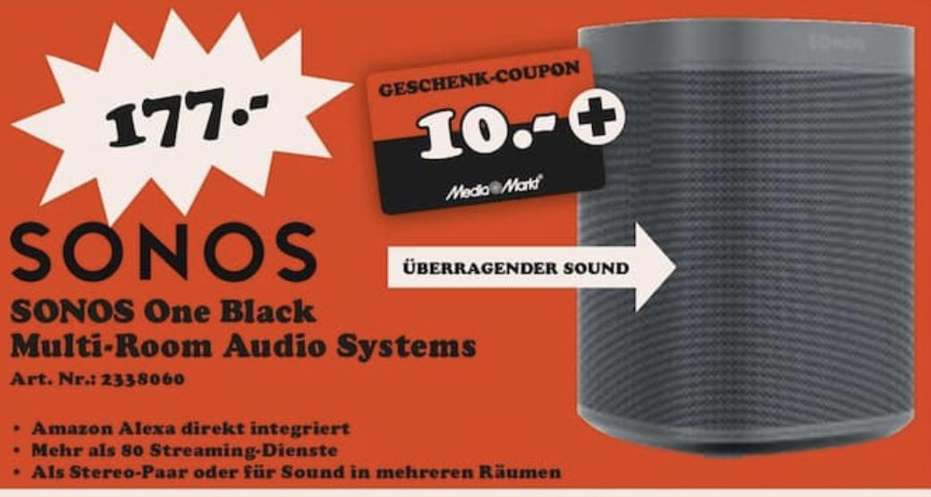 [Lokal: Media Markt Gießen] Sonos One mit Amazon Alexa Sprachsteuerung
