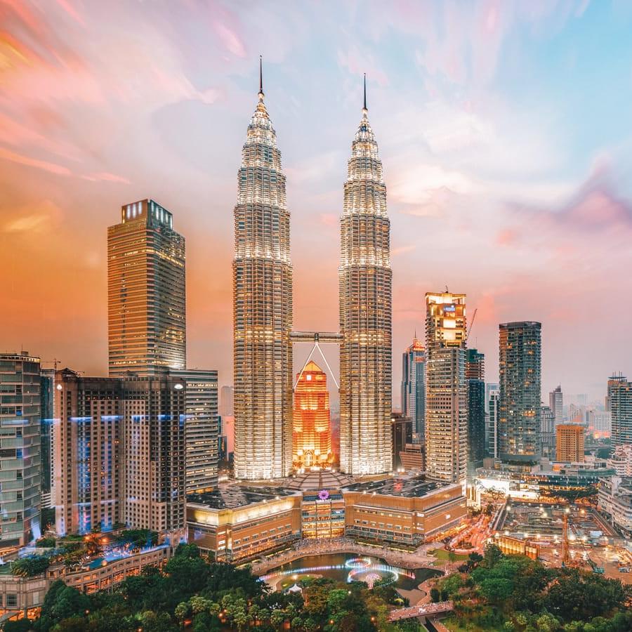 Flüge nach Kuala Lumpur / Malaysia mit KLM und Air France hin und zurück von Zürich und Basel (Mai - Juni) ab 341€