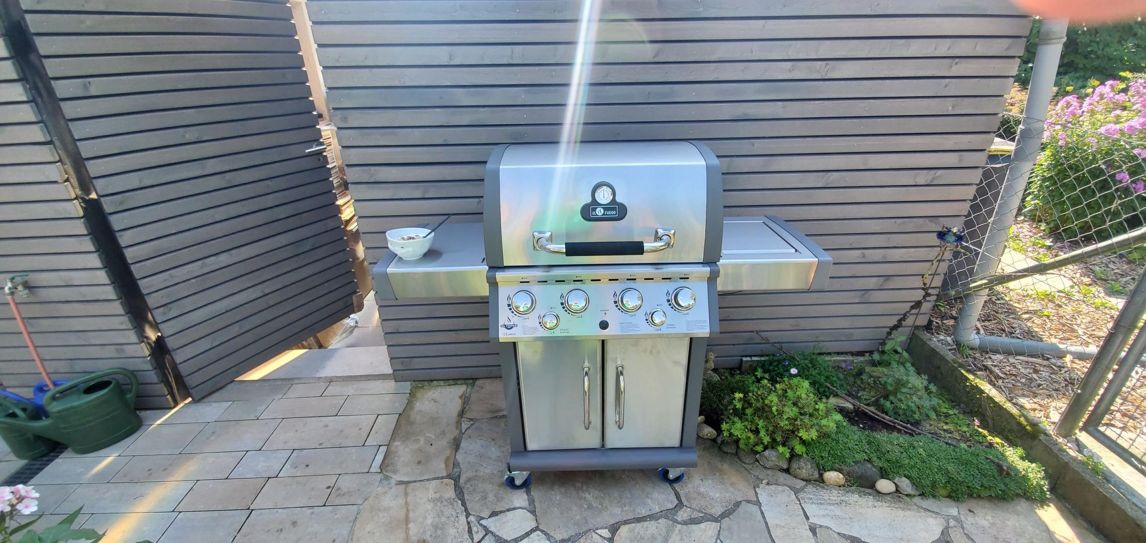 Gasgrill El Fuego Concord 4 Brenner, Edelstahl, 58kg