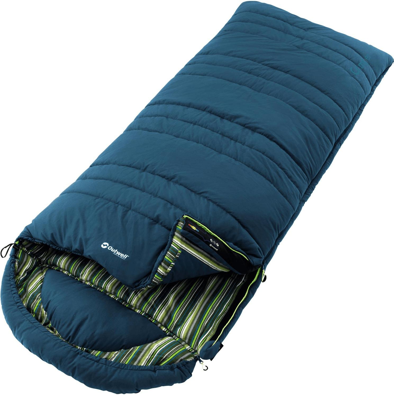 Outwell Camper Decken-Schlafsack (Temperatur Komfort: 5 °C / Limit: 0 °C, 200 x 90 cm, koppelbar mit weiteren Schlafsäcken)