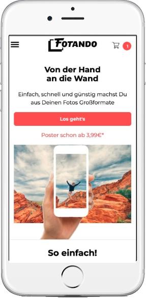 50% Rabatt bei Fotando - Poster, Leinwand, Acryl, Hartschaum, Alu - zB. Poster 60x45 7,98€ oder Leinwand 60x40 14,99€ inkl. Versand
