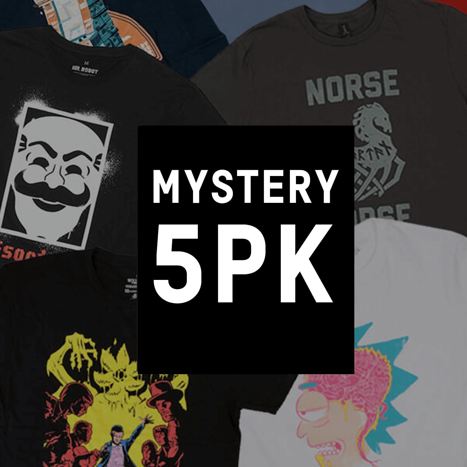 Mystery Geek T-Shirt 5er-Pack für 16,99 € @ Zavvi