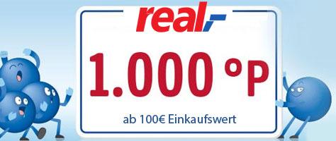 1.000 °Payback Punkte für den Einkauf ab 100€ bei real am 20.09. & 21.09. 2019