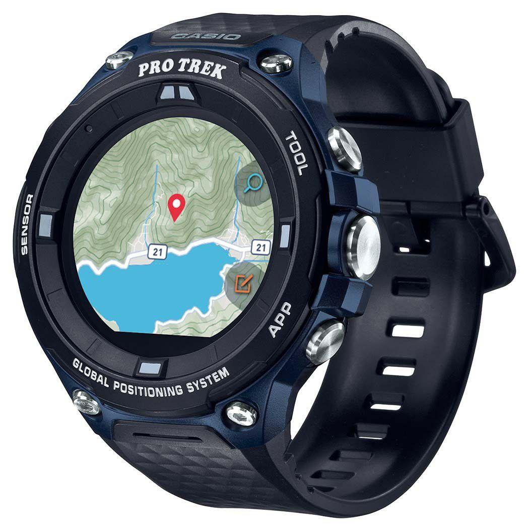 "Casio ProTek WSD-F20 Smartwatch (1,34"" LCD, WiFi, Touchscreen, GPS/Glonass/Michibiki, Offlinekarten)"