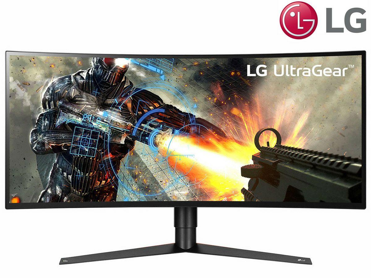 LG 34GK950G 86,36 cm (34 Zoll) UltraGearTM Curved 21:9 UltraWideTM UWQHD IPS Gaming Monitor (120 Hz, DCI-P3 98%, DAS Mode), schwarz