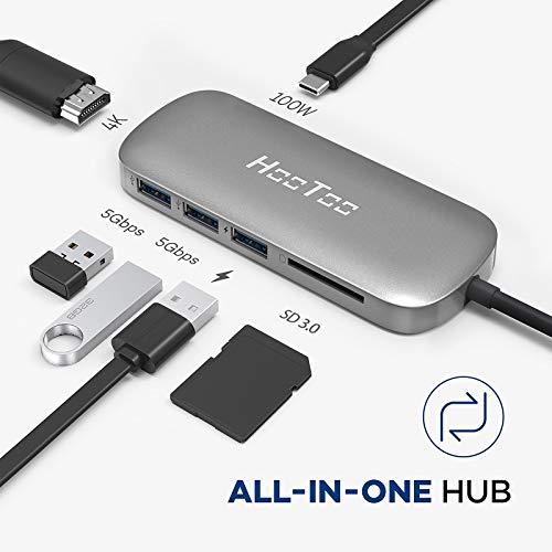 6 in 1 USB C Hub - 4K HDMI, Kartenleser, USB3
