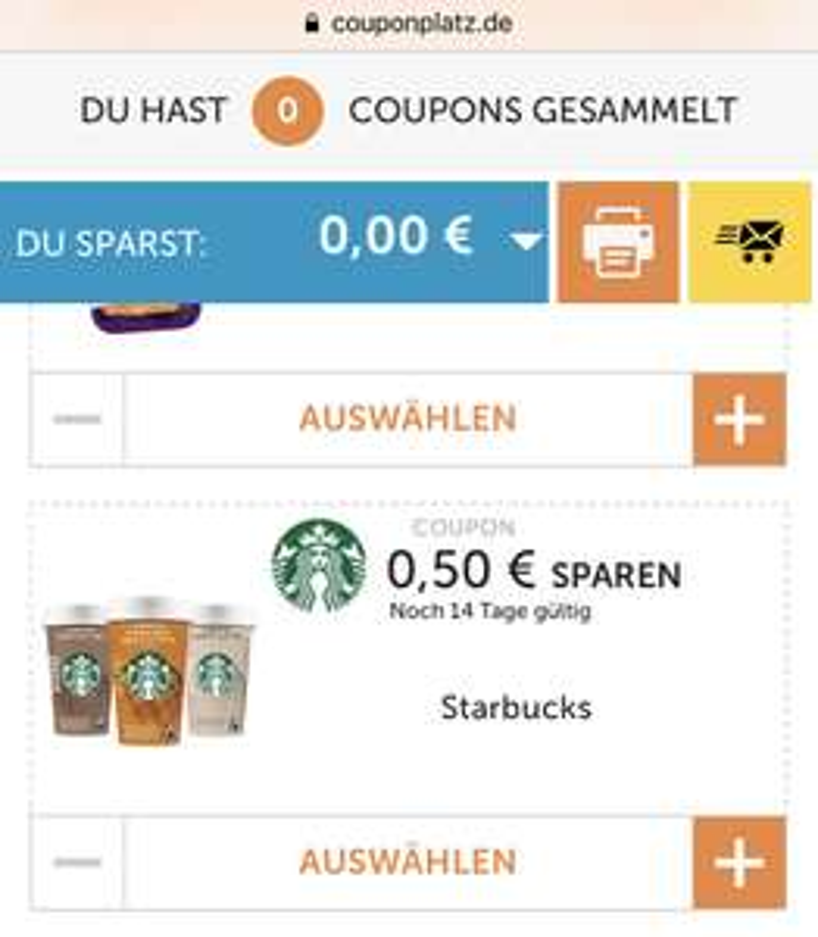Starbucks Chilled Classics bis zu 1€ Rabatt durch Ko