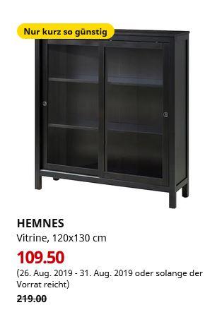 (IKEA Magdeburg) HEMNES Vitrine, schwarzbraun, 120x130 cm