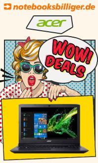 "Acer WOW Deals: z.B. Acer Aspire 3 (15.6"", FHD, Ryzen 5 3500U, 8GB RAM, 256GB SSD)  | 4K-Monitor Acer KG281KA (28"", TN, FS) - 206,74€"