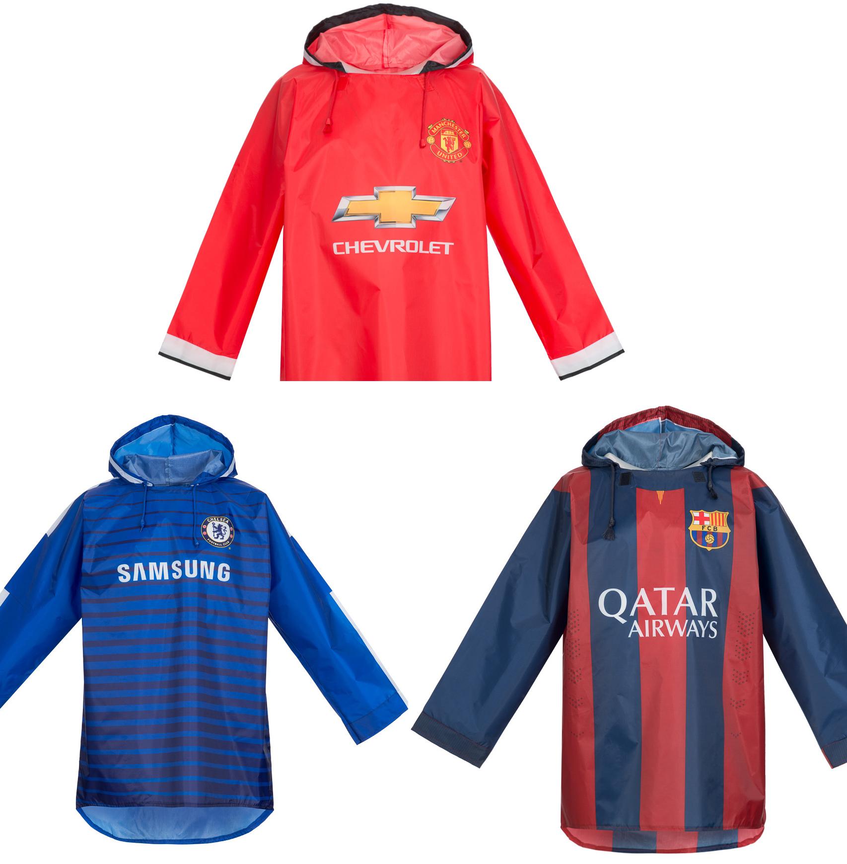 Regenponcho / Jacke von Chelsea, Barca, Manchester United (SPORTSPAR)